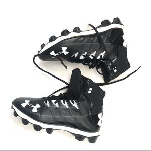 Under Armour Football Cleats Black White